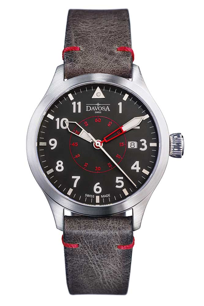 Neoteric Pilot Auto with transparent case back and vintage leather strap - 16156556