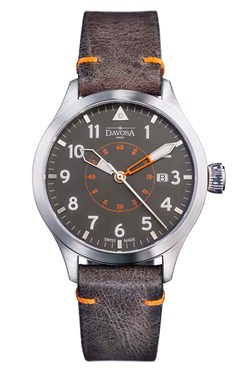 Neoteric Pilot Auto with transparent case back and vintage leather strap - 16156596