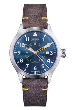 Neoteric Pilot Auto with transparent case back and vintage leather strap - 16156546