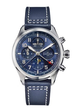 Newton Pilot Moonphase Chronograph - 16158645